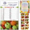Art. B20 Calendario Frutta e Verdura 28,8x47 cm.